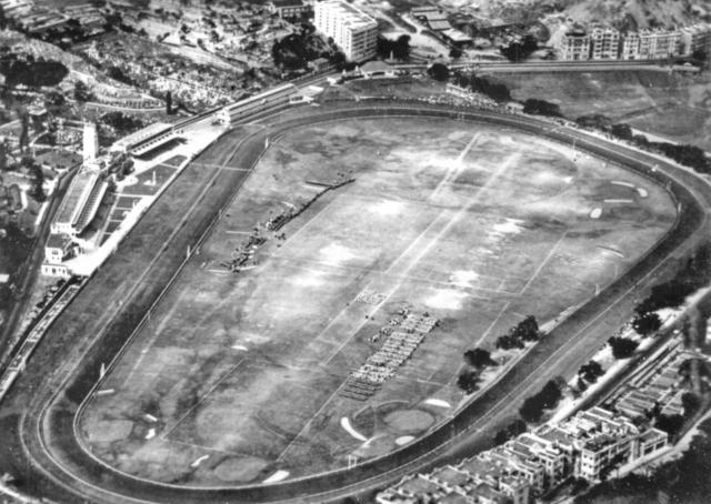 Happy Valley race course-Jubilee Parade-aerial-1935
