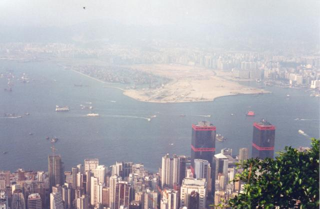 View from the Peak in about 1995