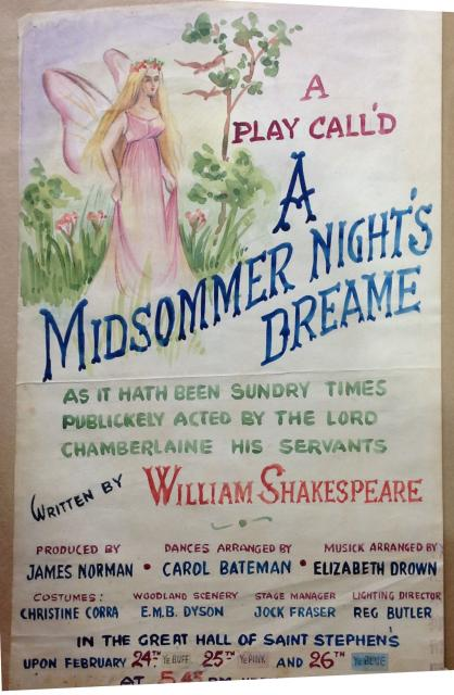"""Poster for """"Midsommer nights dream"""""""