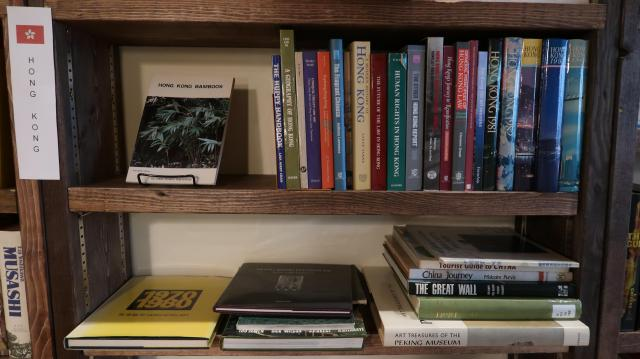 "The ""local history"" shelf at Bleak House Books"