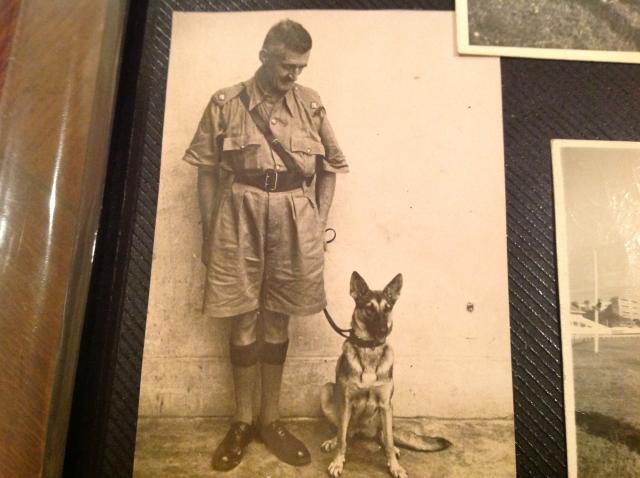 Robert Cunningham with police dog Vicky