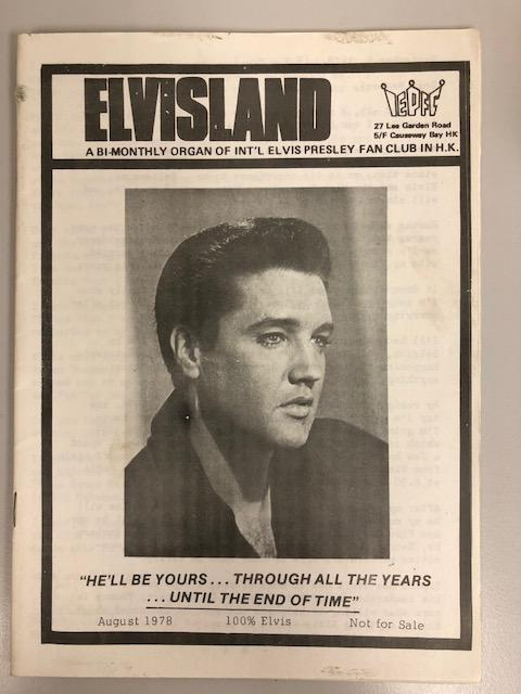 Cover of ELVISLAND magazine - August 1978