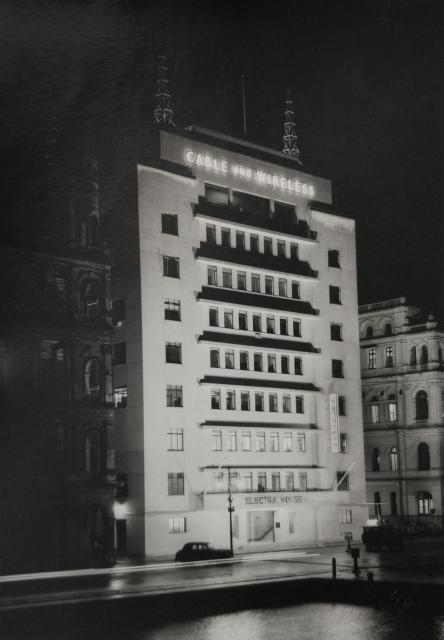 Night view of Electra House