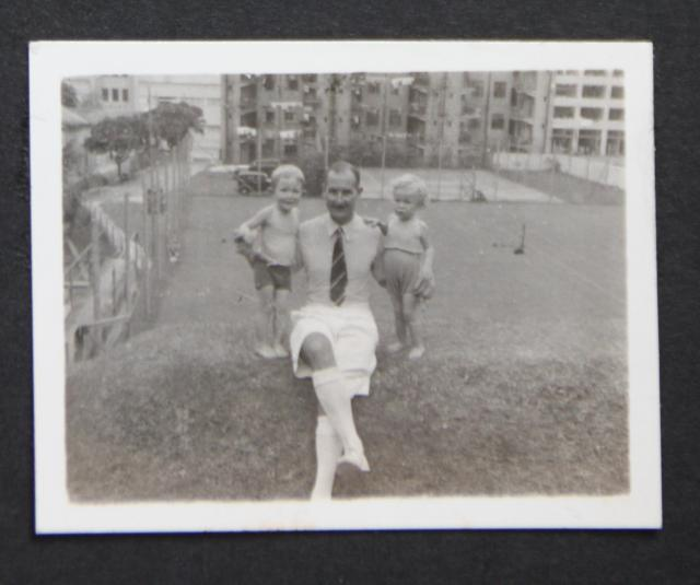 My father, myself and (possibly) Shirley Stopani-Thomson