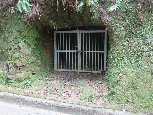 Gated entrance to tunnel
