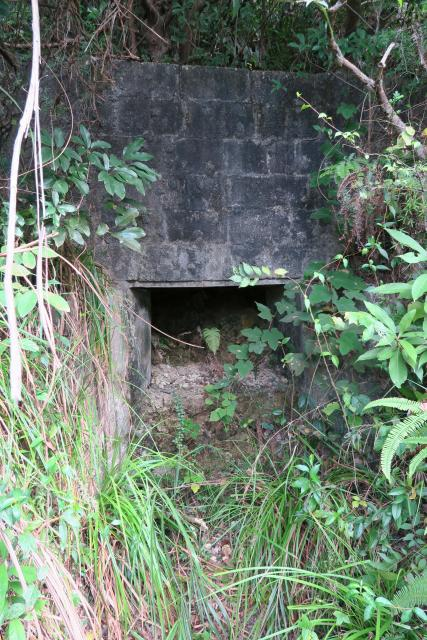Enbrasure in front of Japanese tunnel