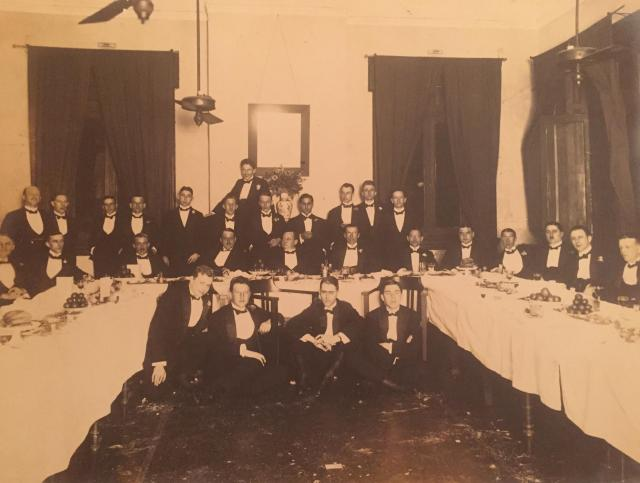 Farewell dinner Mr. Hamel (Dutch) 17 March 1921