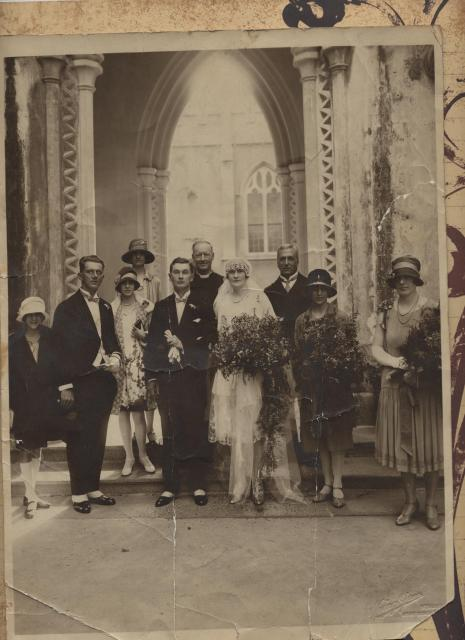 wedding of K.K.Staple and Martha Jane Warbrick, 14.11.1927