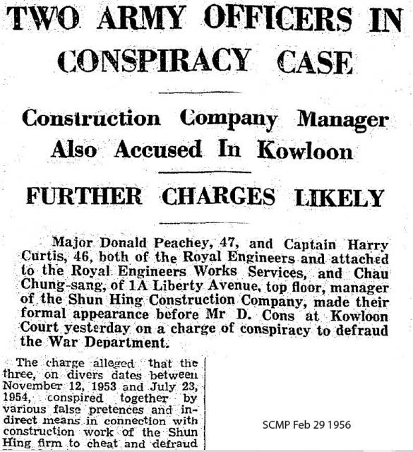 Two Army Officers - Charged with Corruption -1956