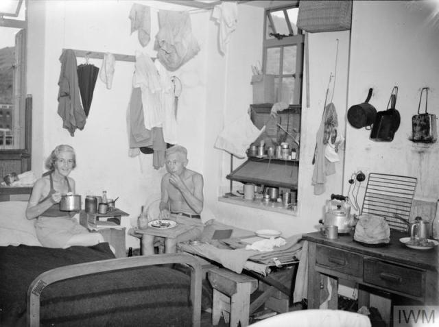 Internees at Stanley after liberation