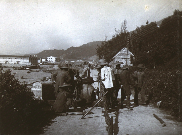 View East over Kennedy Town from Victoria Road c1910