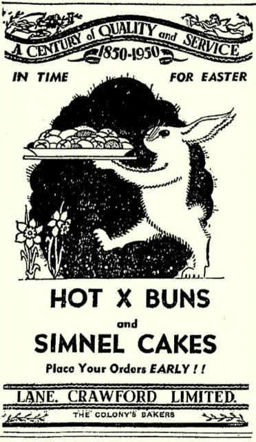 LANE CRAWFORD Ltd-Hot X Buns & Simnel Cakes