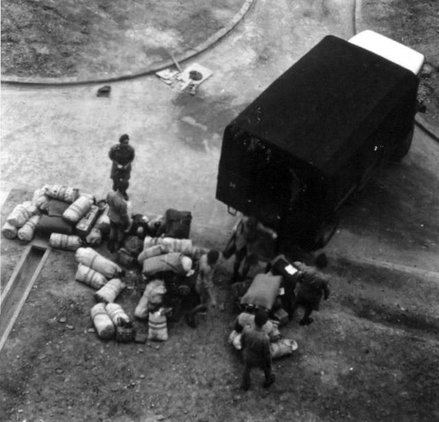 LSW Kit unloaded from Lye Mun camp 1952.