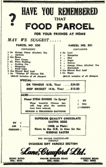 Lane Crawford Ltd-Food Parcels for Home-1949