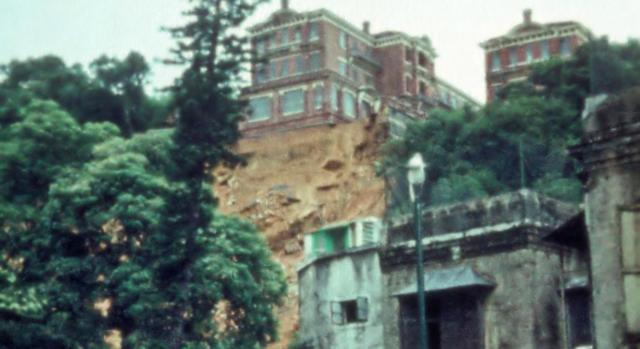 University Halls after the landslide of June 1966