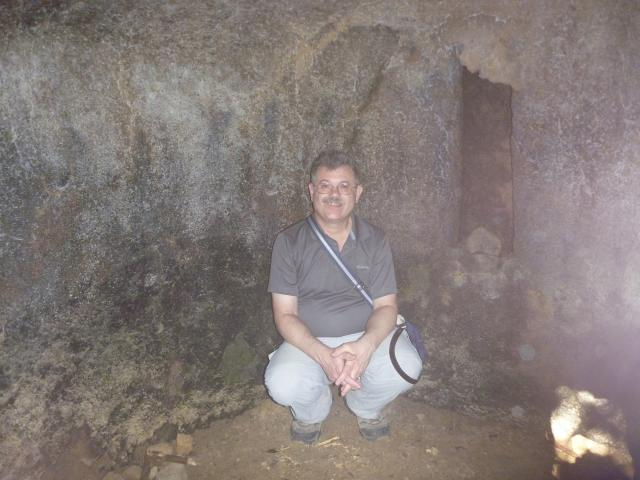 Looking into the charcoal cave