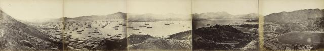 Panorama of Hong Kong, taken from Happy Valley Beato and J Hentry Hering