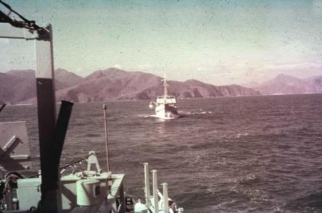 Minesweepers in line-ahead