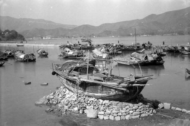 Sampans at Tai Po, Hong Kong.