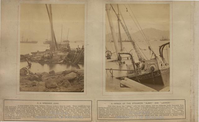 3. Wrecked Junk & 4. Wreck of the Steamers Albay & Leonor