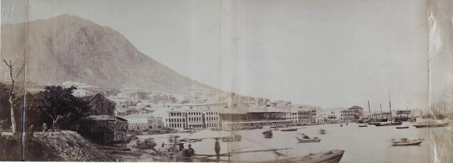 1860s Panorama of City from Murray Pier/Bath-house