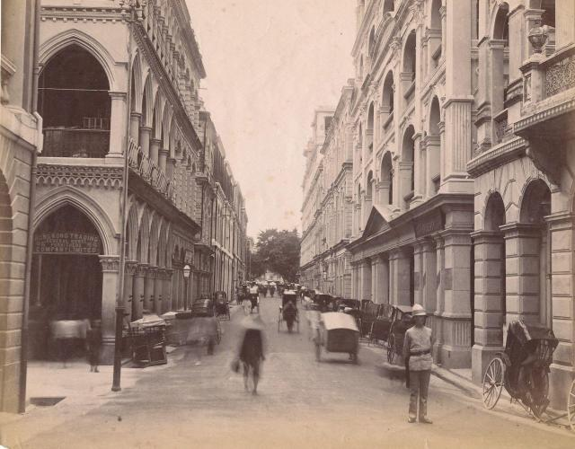 Queens Road Central Looking West 1900s