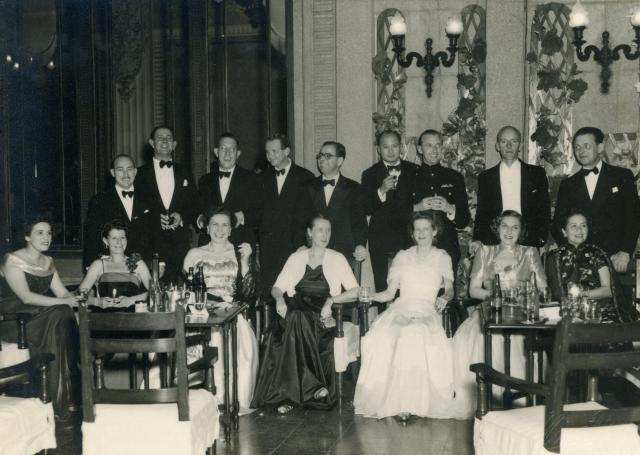 William Hunter Paterson b.1911 Elsie Paterson b.1814 St Georges Ball, January 1950,  Hong Kong.jpg