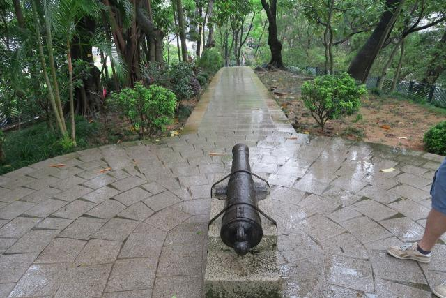 Old cannon in Fa Hui Park