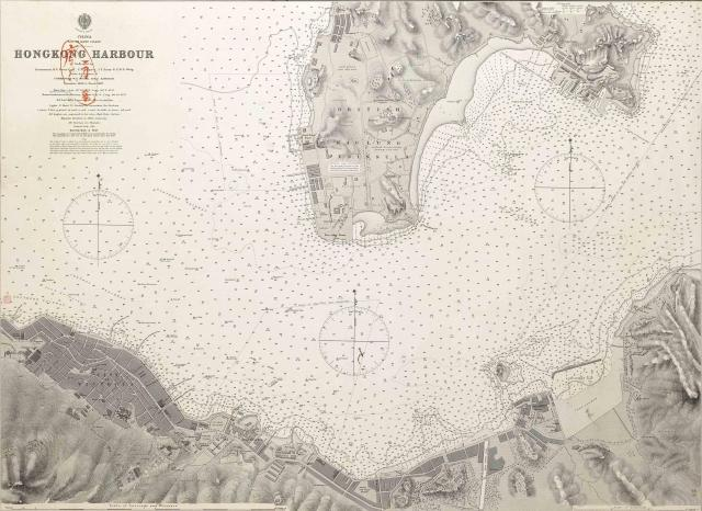 1888 harbour chart