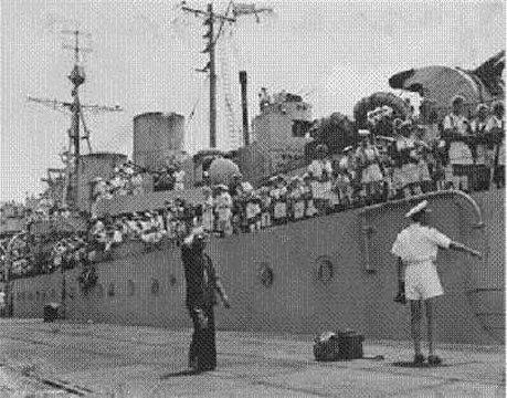 Arrival of HMCS Prince Robert Aug 30, 1945