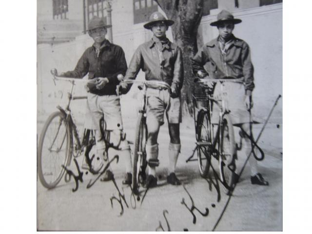 15HKG Scouts with their cross-country bicycles