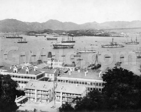 c.1890 View of Naval Yard, harbour & TST from Scandal Point