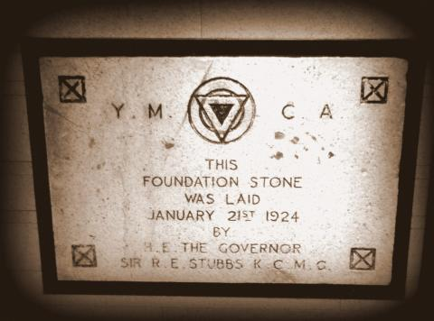 Foundation Stones, YMCA Building, Salisbury Road, Hong Kong 1924.