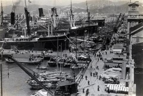 Kowloon Wharves, 1933 visit S.S. Lurline
