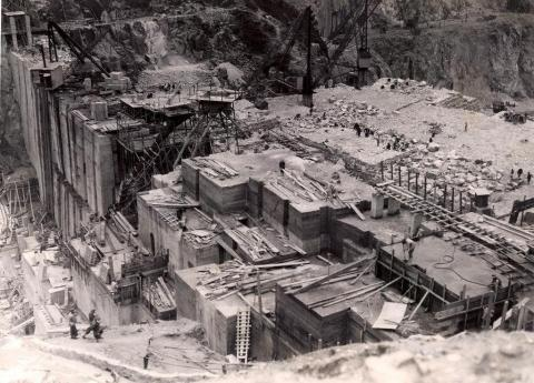 1930s  Shing Mun Reservoir Dam Construction