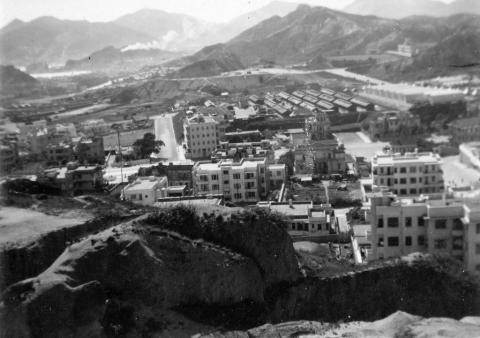 1950 Looking South from Kowloon Tsai Hill