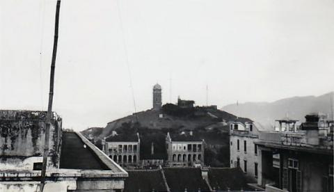 1935 Looking East Across Nathan Road Towards Signal Hill