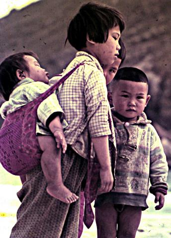 Fisher-folk Children Sha Tau Kok -1960's