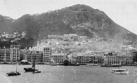 1924 View of Hong Kong from the harbour