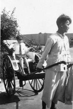 1930s KJS Pupil on Rickshaw