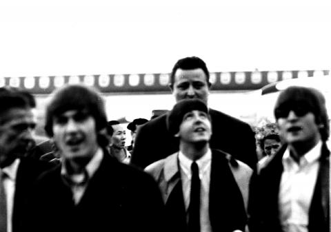 The Beatles arrive at Kai Tak - 1964