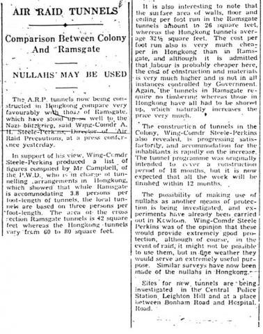 Clipping re ARP from SCMP, 14-Dec-1940
