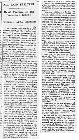 Clipping re ARP from SCMP, 16-Nov-1940