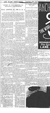 Clipping re ARP from SCMP, 7-Sep-1940