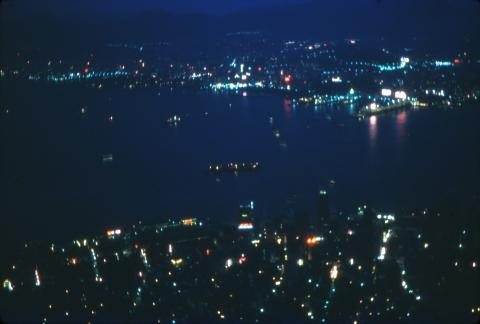 1966 Nighttime view from the Peak