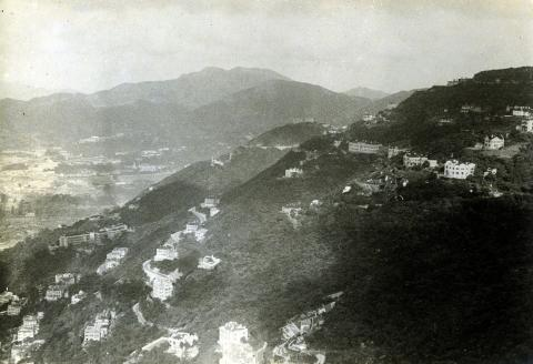 View east from the Peak, late 1930s