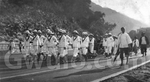 c.1930 Funeral procession along Gap Road - photo #2