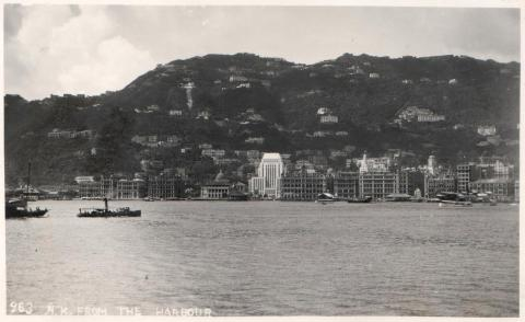 HK island from the harbour