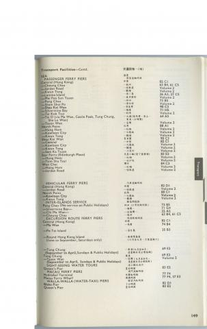 1980 List of ferry routes