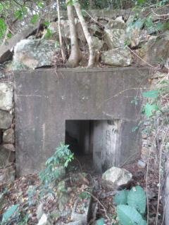 Entrance to the bunker